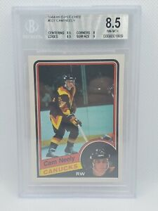 1984-85 O-Pee-Chee CAM NEELY Rookie Card BGS 8.5 NM-MT+