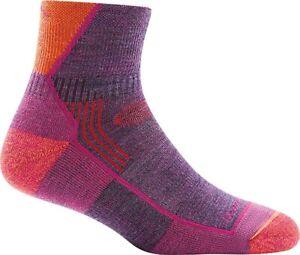 Darn Tough Women's 187625 Plum Heather Hiker 1/4 Cushion Sock Size S