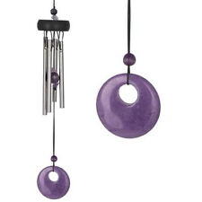 Woodstock Amethyst Wind Chime Purple SMALL Garden Chime Gemstone Summer Chime
