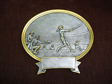 Softball resin oval plate plaque trophy large 54520Gs