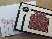 Handmade BIRTHDAY Card Using  Stampin Up! PRIMA BLING EMBOSSED
