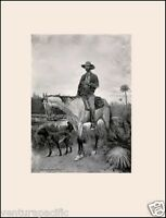Cracker Cowboy : Frederic Remington : Circa 1898 :  Archival Quality Art Print