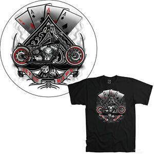 Biker T-Shirt Motorrad Chopper classic Custom MotorBike Bobber ace fun  *4245 bl