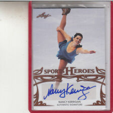 "2013 LEAF SPORTS HEROES NANCY KERRIGAN ""OLYMPIC  SKATING LEGEND"" AUTOGRAPH AUTO"