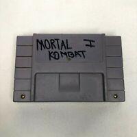 Mortal Kombat 1 Super Nintendo SNES Game Cartridge Tested Working Free Returns