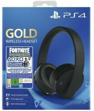 CUFFIE GOLD WIRELESS SONY PLAYSTATION 4 2.0 STEREO GIOCO + FORTNITE VCH 2019 PS4