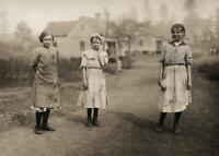 Antique Photo ... Cotton Pickers , Young Girls Mississippi ... Photo Print 5x7
