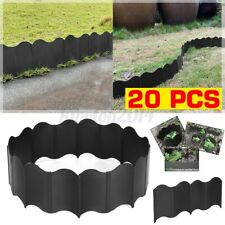 20Pcs Garden Flexible Lawn Grass Edging Border Panel Plastic Wall Path Fencing