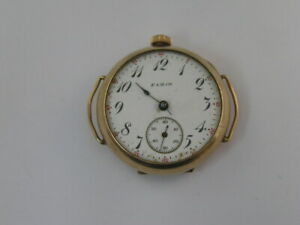 Vintage Elgin Trench Watch Wire Lugs Hinged Case for repair