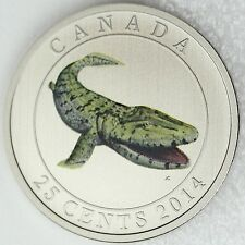Canada 2014 Tiktaalik Prehistoric Creatures, 25-Cent Colored Glow-in-the-Dark