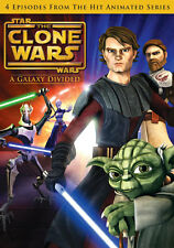 Star Wars The Clone Wars A Galaxy Divided DVD English French Portuguese Spanish