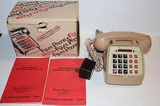 Vintage RARE Figure Phone model 700 telephone w/built in calculator&org. box GTE