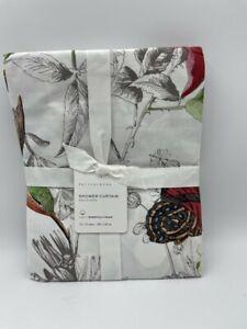 New Pottery Barn Hummingbird Organic Shower Curtain