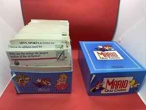 1995 Nintendo Mario Quiz Cards With Box A-Z Atlas Edition