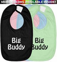 Big Buddy Infant Baby Bib Cotton Hook & Loop Closure Baby Shower Gift Cute