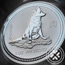 2006 Australia Lunar Year of the Dog 1 oz. Silver Coin Series I w/capsule