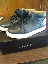 Jaxson S-1814 Men's High Top Sneakers or athletic shoes,  Navy Blue, Size: 8