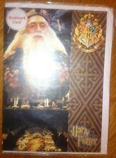 Harry Potter birthday card with Hogwarts bookmark, rare!