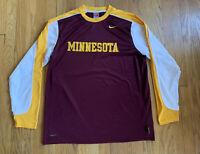 Minnesota Golden Gophers Nike Fit Training Long Sleeve EUC Size L Team Issue