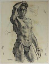 Raoul Sabourdin - Studie Akt Mann - Pastell Kreide Auf Papier 1930
