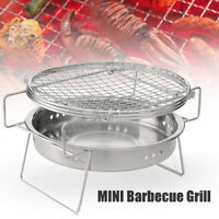 Folding BBQ Grill Outdoor Garden Charcoal Barbecue Stove Camping Travel      AU