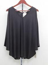 Natori Cold-Shoulder Jersey Tunic - Black - XS