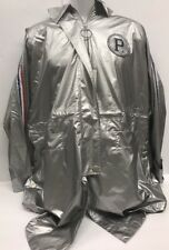 NEW Pepsi x Peacebird Womens Size M Silver Rain Jacket Pullover $285