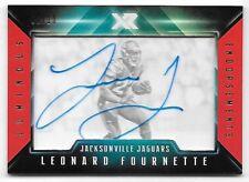 2017 XR Luminous Endorsements Orange #LF Leonard Fournette Autograph RC #08/10