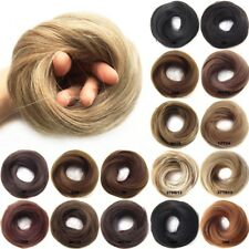 Women's Synthetic Straight Hair Flexible Scrunchie Wrap For Chignon Ponytails