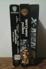 Superhero action Vhs lot. Batman and Robin. Batman Forever. X men.