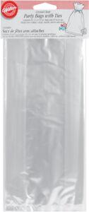 "Wilton Party Bags 4""X9.5"" 25/Pkg-Clear, W1240"