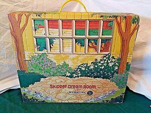 SKIPPER DREAM ROOM 1964 STRUCTURE BARBIE MATTEL CARDBOARD HOUSE