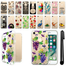 """For Apple iPhone 8 / iPhone 7 4.7"""" Clear Soft Silicone Gel Tpu Case Cover + Pen"""