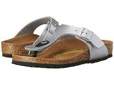 9af5a345f New Authentic Birkenstock Wmn s Summer Thong Gizeh BrikoFlor Silver Sandal