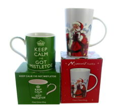2 x cadeaux emballé Chine tasses thème Noël, Noël cadeaux