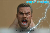 "ELITE TOYS 1/6 Scale Damage Version Roaring Thor Male Head Carving Fit 12"" Toys"