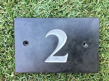 Engraved Natural Slate House Door Number Sign Plaque Any Number