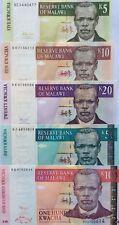 MALAWI 5 10 20 50 100 KWACHA GREAT COLOURFUL UNCIRCULATED BANKNOTES