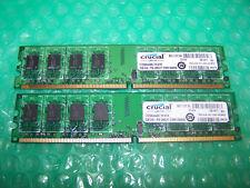 Crucial 4 GB 667 MHz PC2-5300U DDR2 no ECC Memoria, 2x 2 GB Par