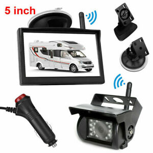"""2.4GHz HD Wireless CCD Camera 5"""" Monitor Reverse For Horse Float CCD Monitor Kit"""