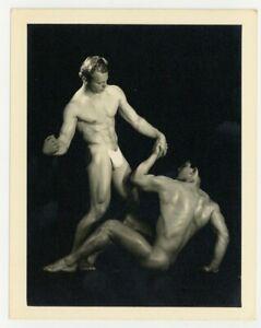 Bruce Of LA 1950 Gay Physique Beefcake Bob Poling Marv McPike Wrestling Q7458
