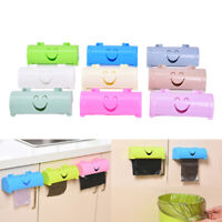 Creative Household Sticky Candy Color Smile Wall Hanging Garbage Bag Storage3C
