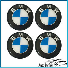 4x Schwarz Nabenkappen Nabendeckel BMW 68mm Radkappe Embleme Felgendeckel Logo