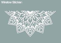 Mandala Window Car Sticker (WHITE) - HIGH QUALITY VINYL DECAL