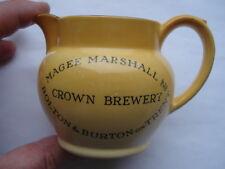 C1930S MAGEE MARSHALL& CO LTD CROWN BREWERY BOLTON&BURTON ON TRENT ADV WATER JUG