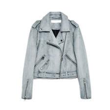 Gipsy Damen Suede Lederjacke Bikerjacke Übergangsjacke Damenjacke Leather Jacket