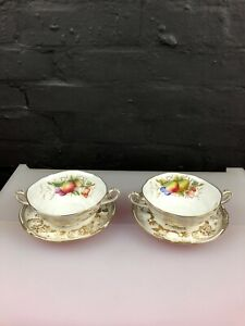2 x Spode Golden Valley Y7840 Soup Coups Bowls & Stands Saucers 3 Sets Available