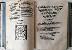 Duns Scotus Scritum Folio Venedig - 1521