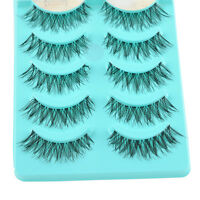 Hot 5 Pairs Natural Eye Lashes Handmade Messy Natural Cross False Eyelashes