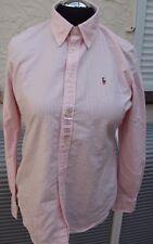 Bluse - Ralph Lauren custom fit - Oxford - Gr. 42 L rosa-weiß - Neuware